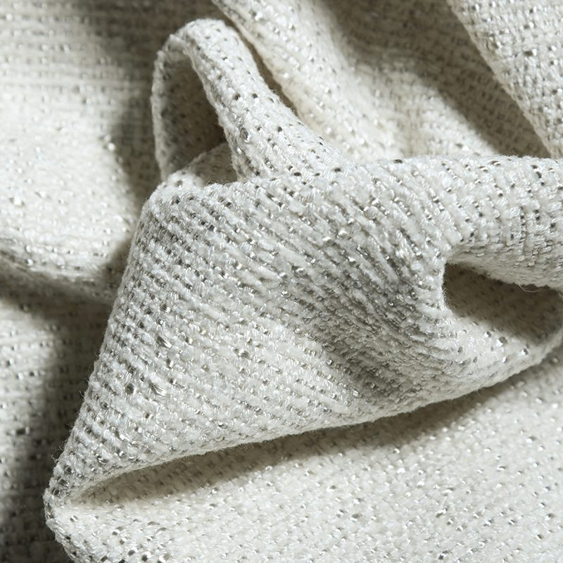Domingo Woven Fabric, Snow