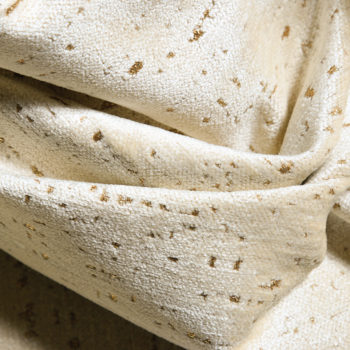Ted Velvet Chenille Fabric, Cream