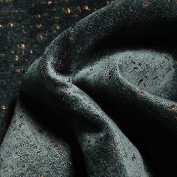 Ted Velvet Chenille Fabric, Turquoise