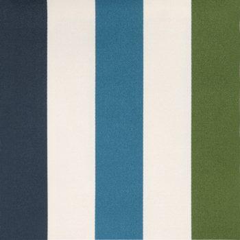Betty Striped Fabric, Blue-Green