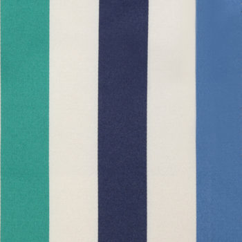 Betty Striped Fabric, Turquoise Blue